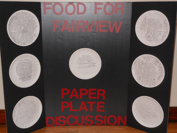Food for Fairview's Paper Plate Discussions