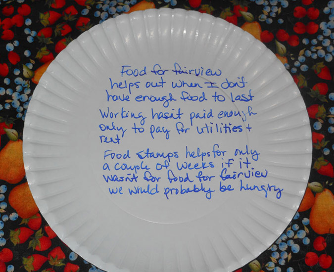 Food for Fairview | Paper Plate Discussions